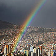 Urban Rainbow La Paz Bolivia Art Print