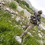 U.s. Army Specialist Walks Art Print