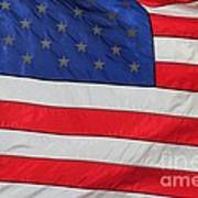 Us Flag On Memorial Day Art Print