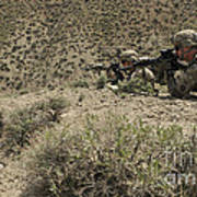 U.s. Soldiers Provide Security Art Print