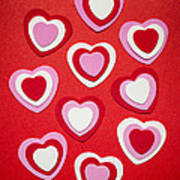 Valentines Day Hearts Art Print