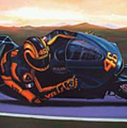 Valentino Rossi On Ducati Art Print
