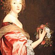 Van Dyck's Catherine Howard -- Lady D'aubigny Art Print
