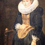 Van Dyck's Portrait Of A Flemish Lady Art Print