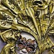Venetian Carnaval Mask Art Print