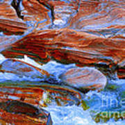Vibrant Colored Rocks Verzasca Valley Switzerland  Art Print