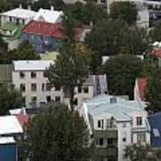 View Of Reykjavik Iceland Art Print