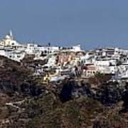 Views Of Santorini Greece Art Print