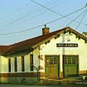 Villisca Train Depot Art Print