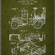 Vintage Military Vehicle Patent From 1942 Art Print