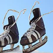 Vintage Pair Of Mens  Skates  Art Print by Mikhail Olykaynen