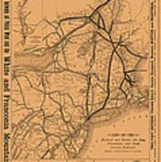 Vintage Train Ad 1887 Art Print