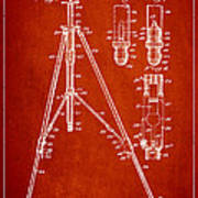 Vintage Tripod Patent Drawing From 1941 Art Print by Aged Pixel