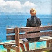 Sitting Alone Art Print
