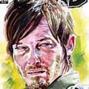 Walking Dead Daryl Art Print