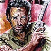Walking Dead Rick Art Print