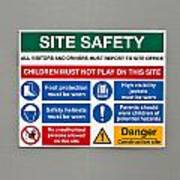 Warning Sign Art Print by Tom Gowanlock