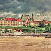 Warsaw View Of The Royal Castle Hdr Art Print