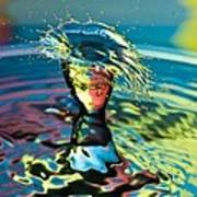 Water Splash Having A Bad Hair Day Art Print