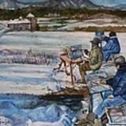 2-watercolor Landscapes Art Print
