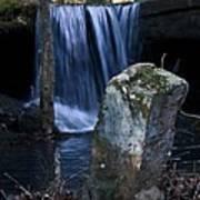 Waterfall At The Ruins Art Print