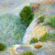 Waterfall In The Mist Art Print