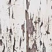 Weathered Paint On Wood Art Print