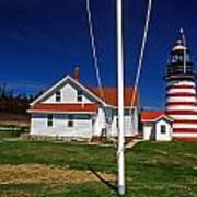 West Quoddy Lighthouse Art Print