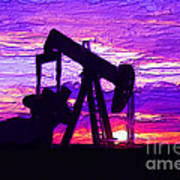 West Texas Intermediate Art Print by GCannon