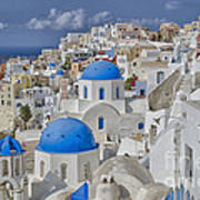 White Buildings With Steep Slope Art Print
