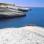 White Chalk Cliffs Eroded Coastline Print by Dirk Ercken