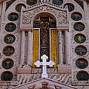 White Cross At St Sophia Art Print
