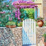 White Gate Art Print