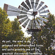 Windmill With Lincoln Quote Art Print