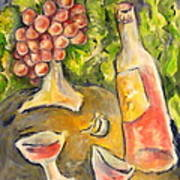 Wine And Grapes Art Print