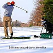 Winter Golf Art Print