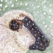Wishing Ewe A White Christmas Art Print