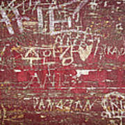 Wood Graffiti Art Print