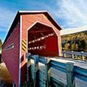 Wooden Covered Bridge  Art Print