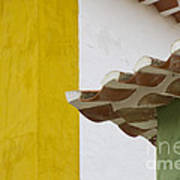 Yellow And Green Lines To The Roofs Art Print
