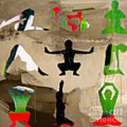 Yoga Poses Art Print
