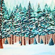 Yosemite Winter Art Print