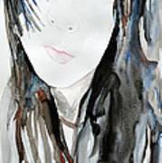Young Girl Art Print by Ismeta Gruenwald