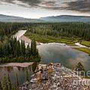 Yukon Canada Taiga Wilderness And Mcquesten River Art Print