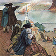 Battle Of Bunker Hill, 1775 Art Print