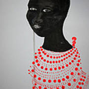 Dinka Bride - South Sudan Art Print