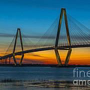 Arthur Ravenel Jr. Bridge At Sunset Art Print