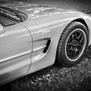 2002 Chevrolet Corvette Z06 Bw Art Print
