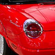 2002 Red Ford Thunderbird-rear Left Art Print