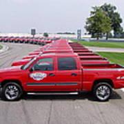 2004 Brickyard 400 Silverado Drive-away Vehicles Art Print